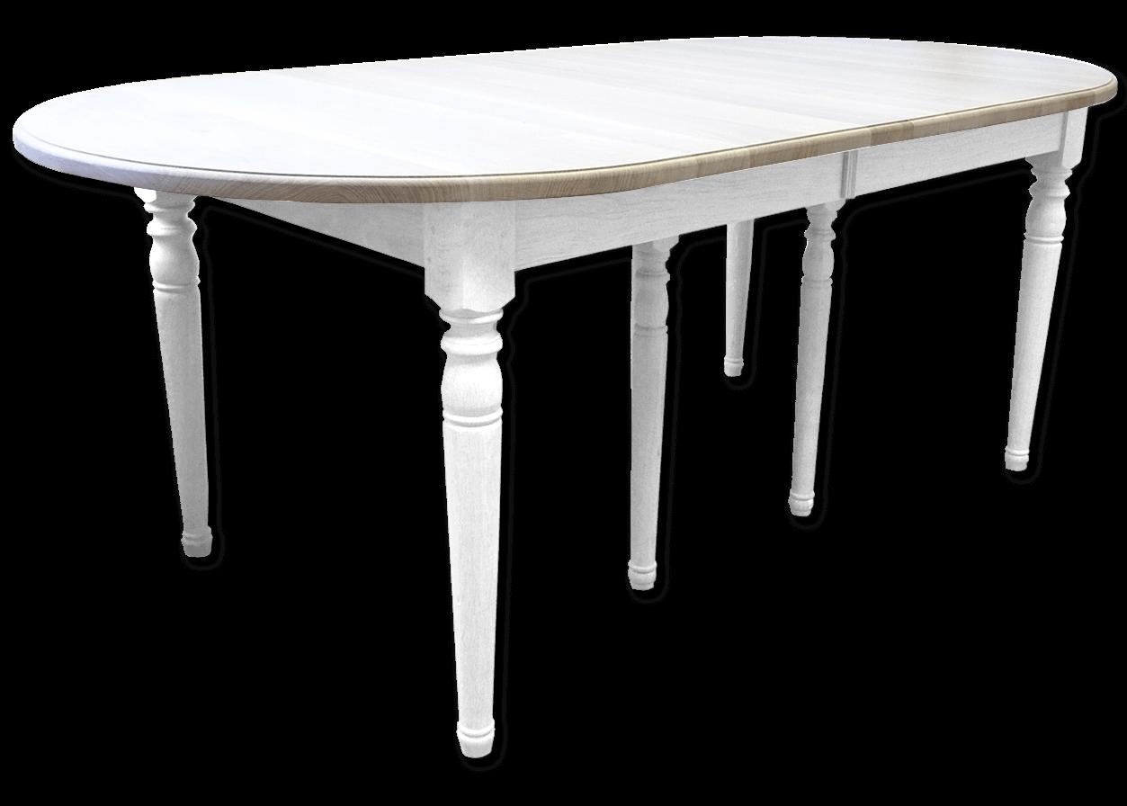 Table Blanche Pied Bois nos tables fixes en bois massif: table ovale fixe authentique chic bois  chêne massif