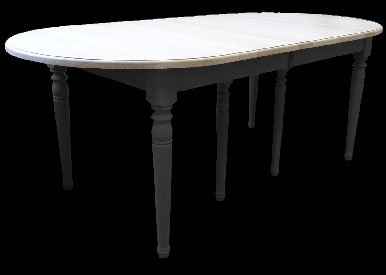 Table En Bois Chene Clair nos tables fixes en bois massif: table ovale fixe authentique chic bois  chêne massif