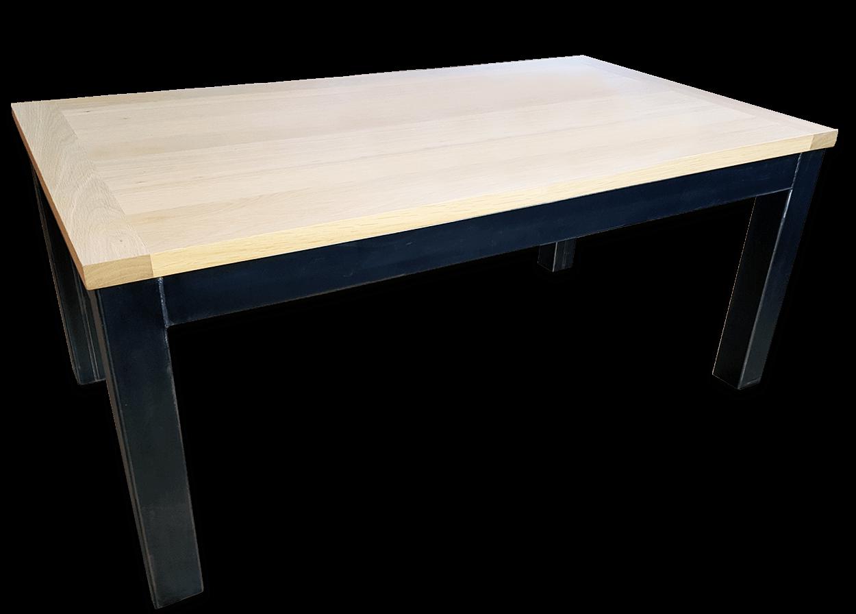 Nos Tables Fixes En Bois Massif Table Fixe Industriel Metal Bois De Chene Massif