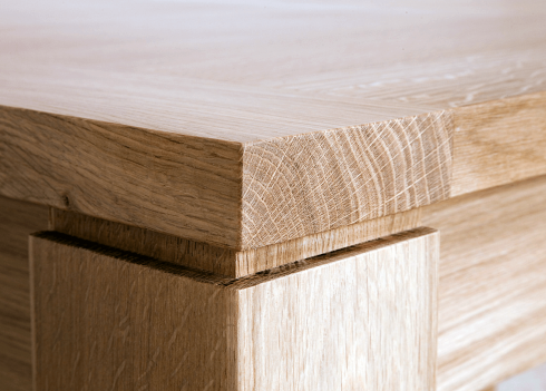 Table fixe CALI NATUREL RECTANGLE- bois de chêne massif Detail